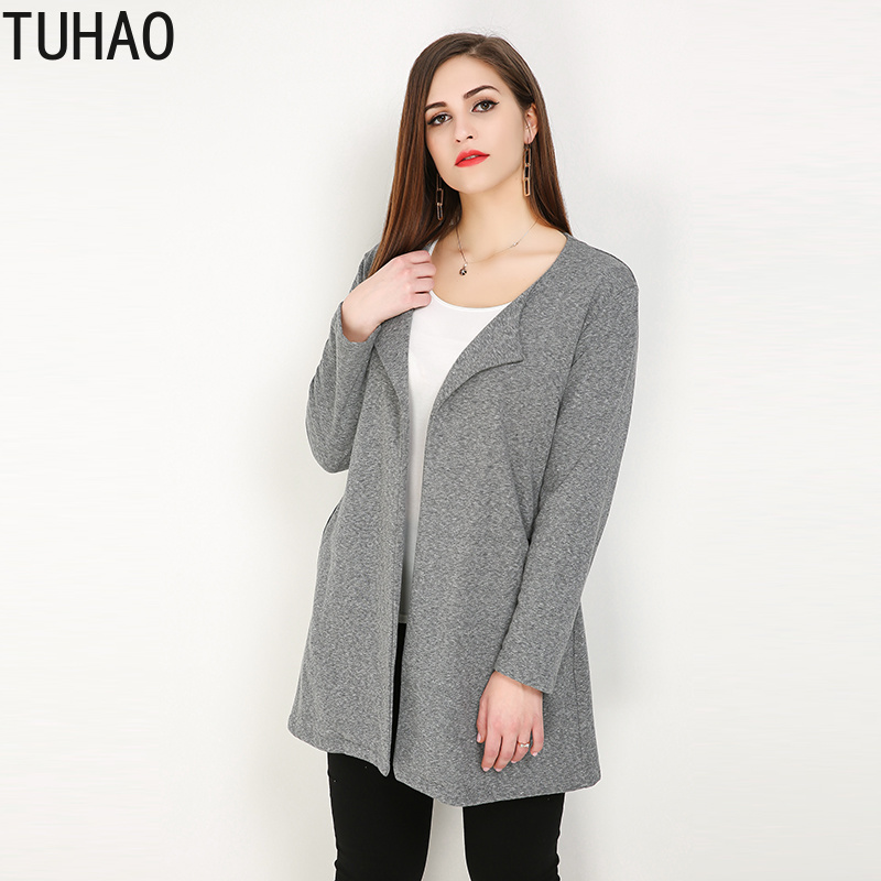 TUHAO   Trench   Coat for Women PLUS SIZE 8XL 7XL 6XL Loose Lapel Pure Color Ladies   Trench   Coats Clothing for Women Clothing RL