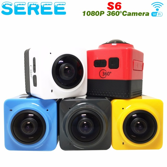 Seree 2017 Latest 360 Mini WiFi Sports Action Camera 360x190 Degree Panorama Camera Wifi H.264 Video Mini Camera Support Phone A