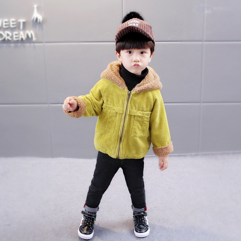 Зимние куртки для маленьких девочек теплое флисовое пальто с искусственным мехом Детская куртка Верхняя одежда с капюшоном для мальчиков д...
