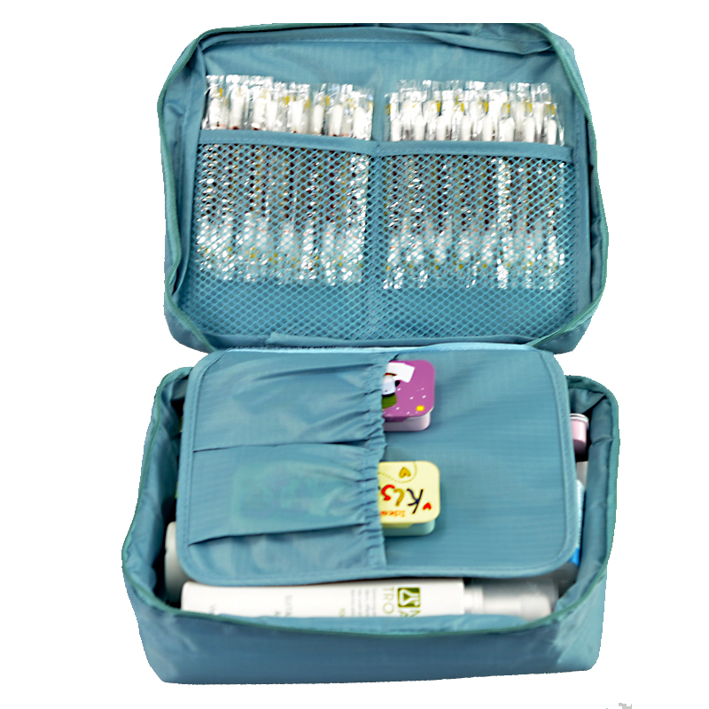 9c4c20e2a24b Free Shipping Sky Blue Outdoor Travel First Aid Kit Bag Home Small Medical  Box Emergency Survival