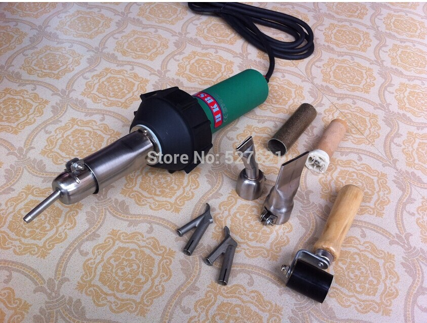 где купить  Hot Air Torch Plastic Welding Gun Welder Pistol 1000w+ Speed Nozzle +Roller Some PVC Or PE Gift  по лучшей цене
