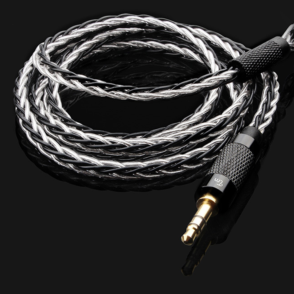 TRN 2.5/3.5mm Copper Silver Mixed Updated Cable 0.75 0.78 2Pin MMCX Balanced Cable With Connector For TRN v80 v20 v10TRN 2.5/3.5mm Copper Silver Mixed Updated Cable 0.75 0.78 2Pin MMCX Balanced Cable With Connector For TRN v80 v20 v10