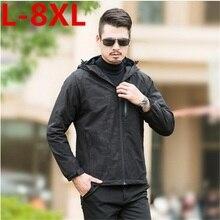 2017 new plus size 8XL 7XL 6XL Hot Sale High Quality Men's Jackets Standard European Big Size Winter Thick Jacket Parkas zipper