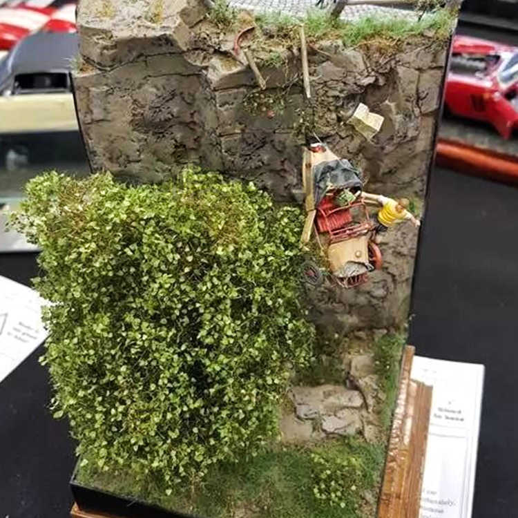 100G Miniatur Szene Materia Rasen Flock Rasen Nylon 3MM Szene Materia Licht Grünen Rasen