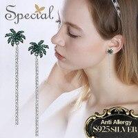 Special Brand Fashion 925 Sterling Silver Stud Earrings Rhinestones Long Earrings Luxury Jewelry Gifts For Women