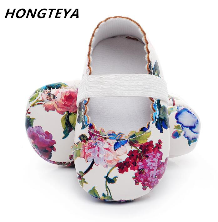 Fashion Floral Printing First Walkers Shoes Princess Ballet Shoes Hot Sale Soft Sole Baby Moccasins Newborn Baby Girls Shoes