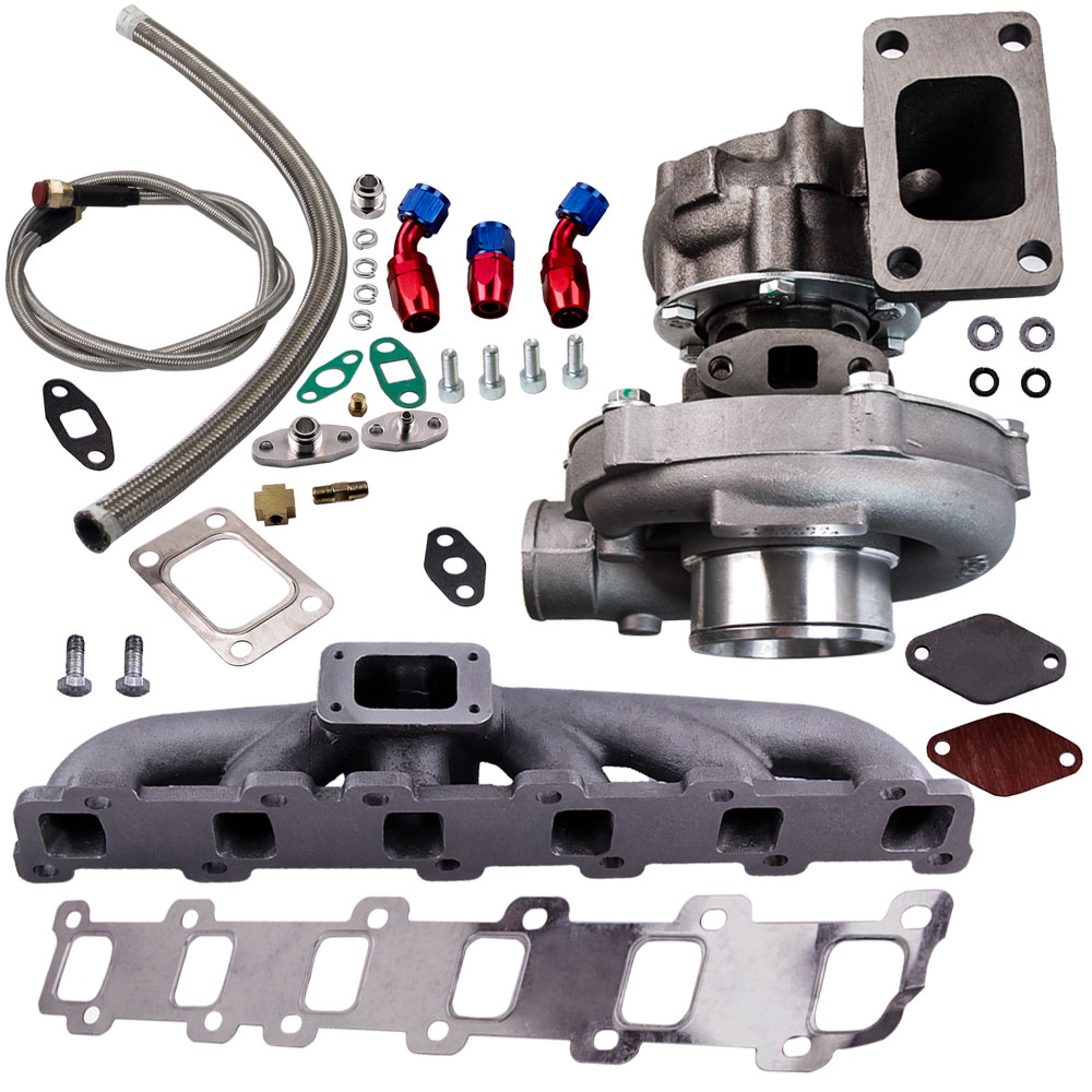 .63 A/R STAGE III T04E T3 T4 44 TRIM COMPRESSOR TURBOCHARGER +Oil Line+Manifold Turbo Chargers & Parts     - title=