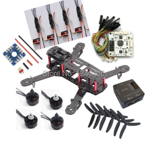 RC QAV250 DIY Carbon fiber Quadcopter Multirotor Kit & Emax MT1806 2280KV Brushless Motor & Emax Simonk 12A ESC & CC3D Flight C diy qav250 mini quadcopter rc drone radiolink at9 transmitter cc3d flight controller emax 1806 motor simonk esc drones