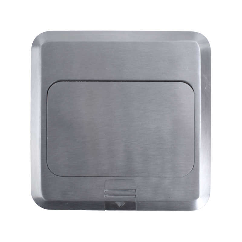 Coswall w całości z aluminium srebrny Panel Pop Up gniazdo podłogowe 16A rosja hiszpania standard ue listwa sieciowa z port ładowania usb 5V 1A