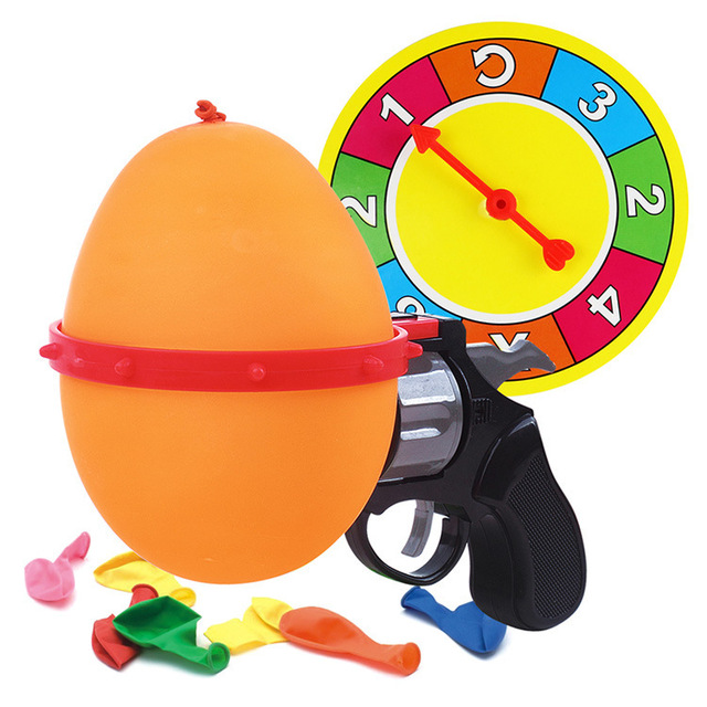 Lucky Russian Roulette Model Balloon Gun Party Tricky Creative funny gadgets Toys Family anti stress products interactive games