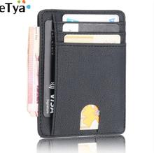 eTya 2019 New Women Men Slim Credit Card Holder Wallet Fashion Travel Leather ID Passport  Money Card Purse Bag Case Organzier new pu leather passport cover holder women men travel credit card holder travel id card document passport holder