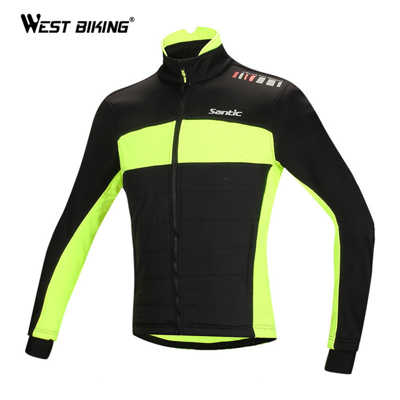 WEST BIKING Winter Cycle Clothing Outdoor Sport Fleece Thermal Windproof Men Jacket Ropa Ciclismo Bike Bicycle Cycling Jersey