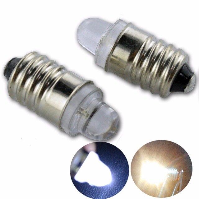 US $7 99 |Aliexpress com : Buy 10pcs Low Power Consumption E10 LED Screw  Base Indicator Bulb Cold White Warm White 12VDC Light Bulb Wholesale from
