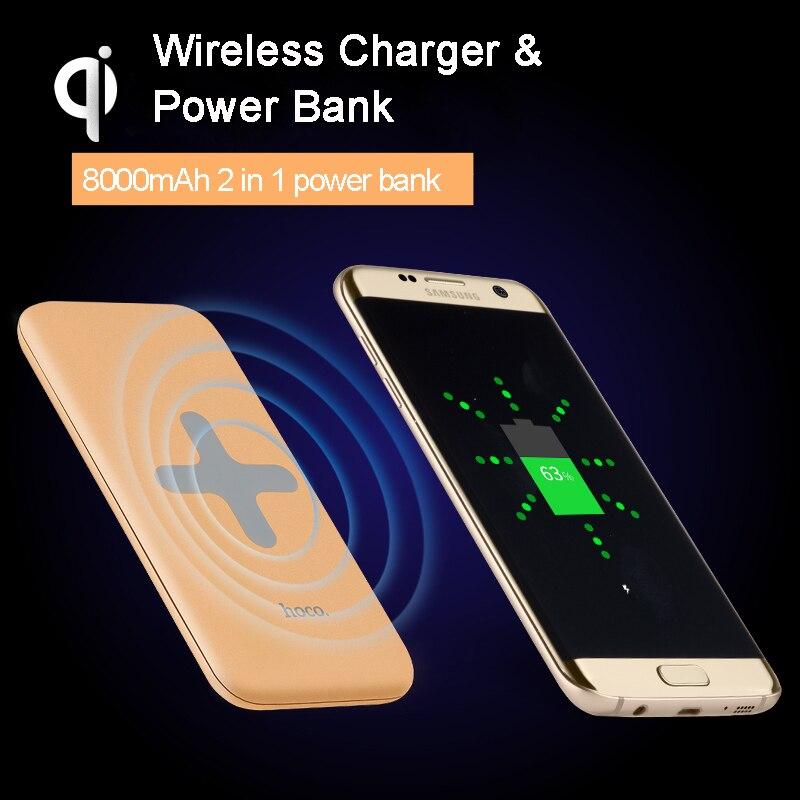 Hoco b11 8000 mah banco de la energía qi cargador inalámbrico para el iphone, sa