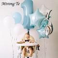 Baby Shower 1St набор воздушных шаров на день рождения розовый и голубой номер Фольга воздушного шара и надписью «Wild One» для дня рождения украшения...