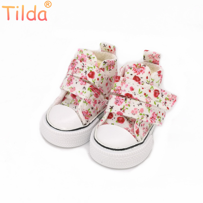 Tilda 6cm Mini Shoes For Paola Reina Doll,Fashion Mini Toy Gym Shoes For Tilda,1/4 Bjd Doll Footwear Shoes For Dolls Accessories