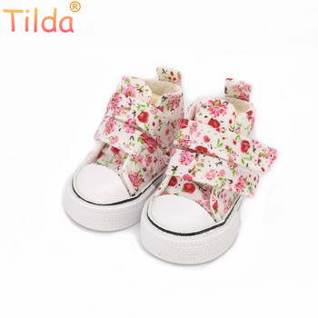 Tilda 6cm Mini Shoes For Paola Reina Doll,Fashion Mini Toy Gym Shoes for Tilda,1/4 Bjd Doll Footwear Shoes for Dolls Accessories фото