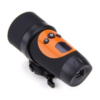 HD 720p Action Waterproof Camera Bicycle Helmet Camera Sport Camcorder Orange & Black