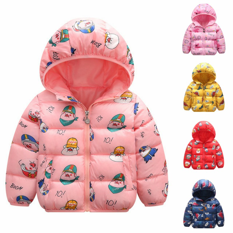 Baby Boy Jacket New Hooded Plus Velvet Velvet Multicolor Cotton Coat Children Boys and Girls Thick Cotton Coat(China)