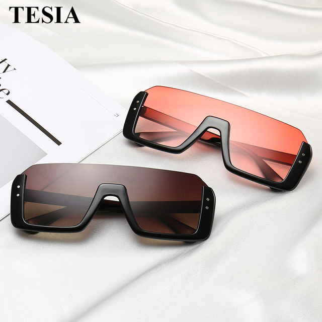05923653cfb 2019 New Fashion Semi Rimless Sunglasses Men Women Retro Half Frame Sun  Glasses Mirror Coating Lens