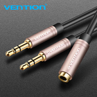 Vention 3.5mm Aux Audio Extension Cable Jack 3.5 Female to Dual Male Earphone Headphone AUX Splitter for Computer Laptop