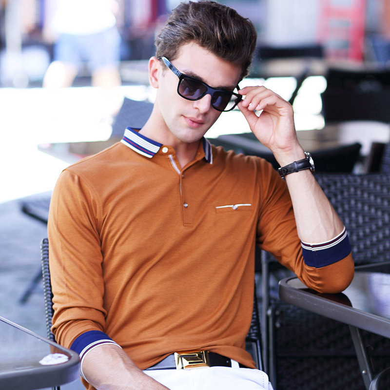 ICPANS Golf Long Sleeve Polo Shirts Men Casual Solid Color Cotton 2018 Slim Fit Polo Shirts Men Fashion Hot Sale Big Size