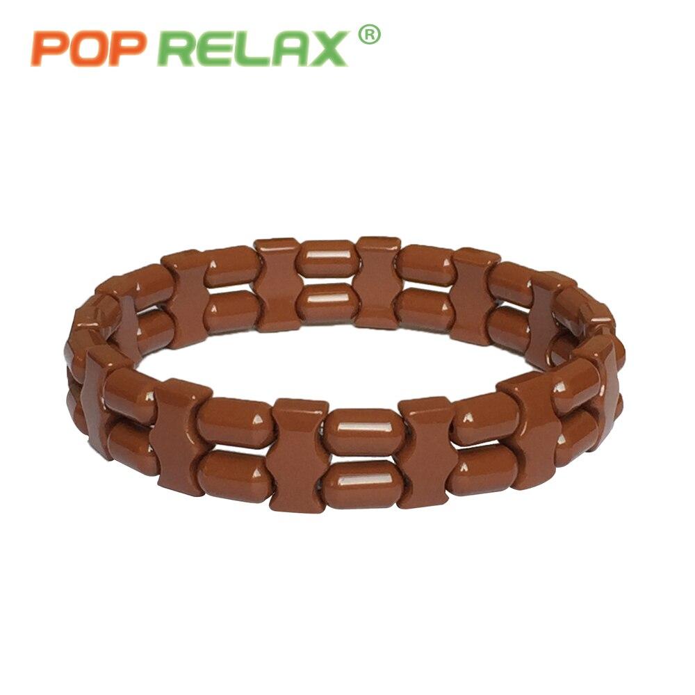 POP RELAX new Korea tourmaline germanium bracelet ion balance physiotherapy health care fashion stone bracelets for men women