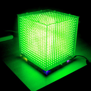 Image 4 - Zirrfa mini Luce cubeeds LED Spettro Musicale, 3D 16 16x16x16 kit fai da te elettronico, parti di Display A LED, Regalo Di Natale, per la carta di TF