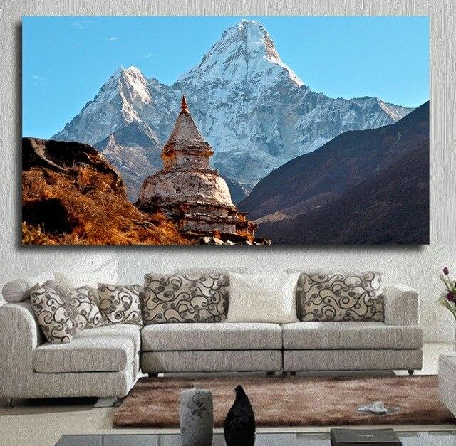 Qkart Home Decor Nepal Landsape Canvas Oil Painting Wall
