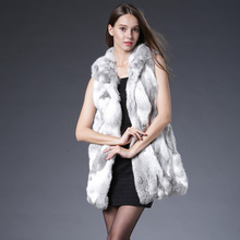2016 New Genuine Rex Rabbit Fur Vest With Hooded Real Silm Rabbit Fur Waistcoats Winter Rabbit Fur Jacket Plus Size S-3XL