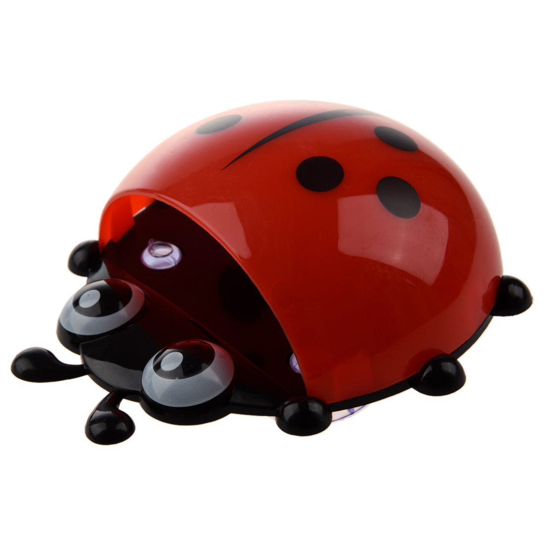 Convenient Bathroom Toothbrush Stuff Ladybug Wall Suction Holder-Red image