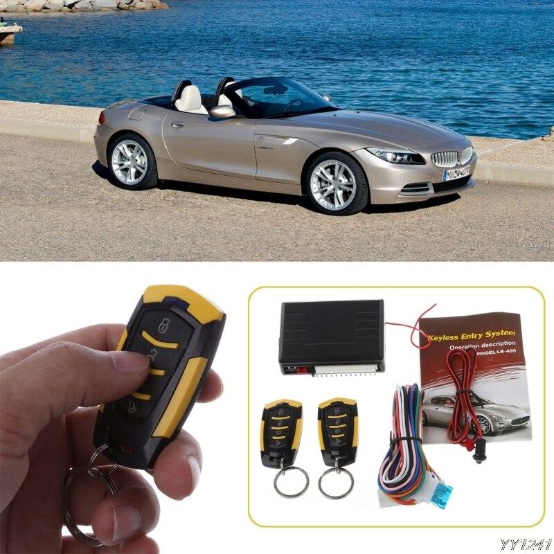 2019 wysokiej jakości 12V Car alarm automatyczny zdalne drzwi wewnętrzne blokowanie pojazdu dostęp bezkluczykowy zestaw do organizacji Car Styling w Alarm antywłamaniowy od Samochody i motocykle na title=