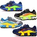Кроссовки Dinoskulls для маленьких мальчиков  детские кроссовки с 3D динозавром  сетчатая спортивная обувь для тенниса  детская обувь для бега  ос...