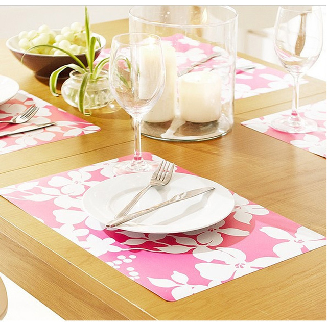 Colorful pp placemats dining table mat heat insulation pad fashion disc pads bowl pad coasters drawer mat 4
