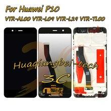 Новинка, 5,1 дюйма для Huawei P10, задняя фотография, зеркальный ЖК дисплей + цифровой преобразователь сенсорного экрана в сборе с рамкой, черный/белый