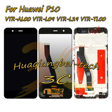 Yeni 5.1 Için P10 VTR AL00 VTR L09 VTR L29 VTR TL00 lcd ekran + dokunmatik ekranlı sayısallaştırıcı grup Çerçeve Siyah/Beyaz