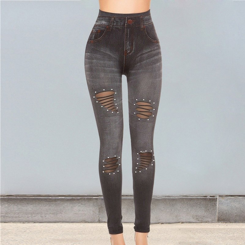 HTB1.eGpPrrpK1RjSZTEq6AWAVXah NIBESSER 2019 New Blue Hole Jeans Pancil Pants Women`s Mid High Waist Stretch Denim Jeans Casual Stretch Skinny Trousers Jeans