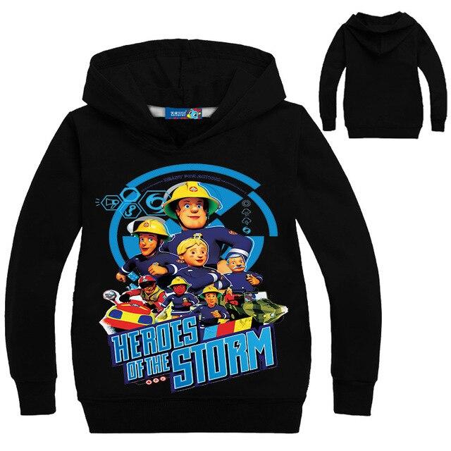 07c8dc385449 Детская толстоВКА  футболка с длинными рукавами для маленьких мальчиков  Обувь для девочек Пожарный Сэм футболка
