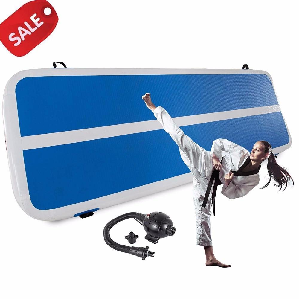 Voie gonflable de culbuteur d'air de tapis de culbuteur de gymnastique/tapis de plancher d'air de pompe électrique pour l'usage à la maison/Cheerleading/plage/parc ou eau