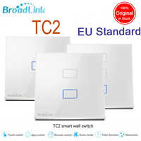 Broadlink eu標準、ワイヤレスリモート制御光壁スイッチ、タッチウォールライトスイッチ、110ボルトの240ボルトライトスイッチ用スマートホーム