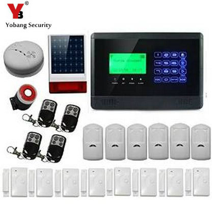 YobangSecurity Wireless Security Alarm GSM Autodial Home Office Burglar Intruder Fire Alarm Siren PIR Motion Door Detector