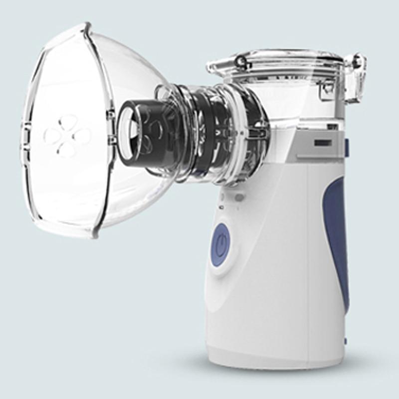 Portable Ultrasonic Nebulizer Mini Handheld Inhaler Respirator Humidifier Kit Health Care Children Home Inhaler Machine Atomize