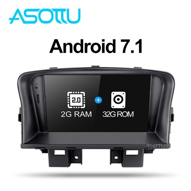 Asottu ZLKLZ7060 2G + 32G Android 7,1 reproductor de radio dvd coche para Chevrolet Cruze 2008, 2009, 2010, 2011 2012 coche dvd gps reproductor ESTÉREO