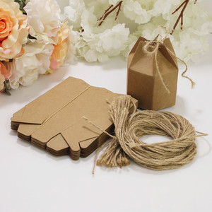 Image 5 - 50pcs New design small Kraft Paper package cardboard box Lantern hexagon craft gift candy box Christmas gift packaging paper box