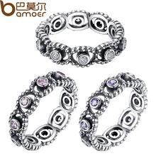 HOT 925 Sterling Silver Wedding ceremony Rings With Crystal For Ladies Appropriate With Unique BA Ring equivalent Jewellery