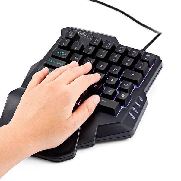 Image 3 - G30 1,6 м Проводная игровая клавиатура со светодиодной подсветкой  35 клавиш с одной рукой Мембранная клавиатура для LOL/PUBG/CF-in  Клавиатуры from Компьютеры и офисная техника on AliExpress