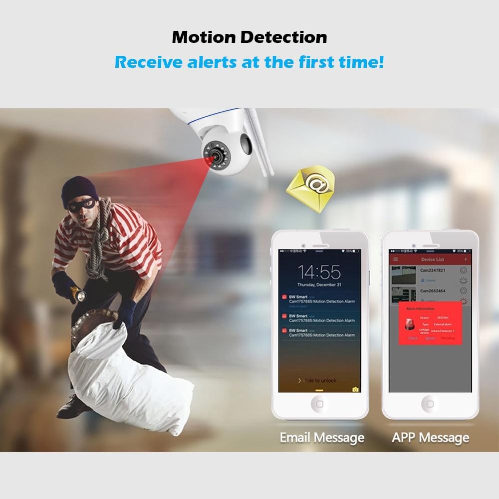 Bezprzewodowa kamera IP WiFi HD KERUI GSM Home Security Alarm Kamera - Bezpieczeństwo i ochrona - Zdjęcie 3