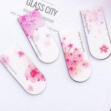 Kawaii Stationery Pink Cherry Blossoms Magnetic Bookmark for Teachers Gift Creative School Supplies Mini Book Folder Flip Clip