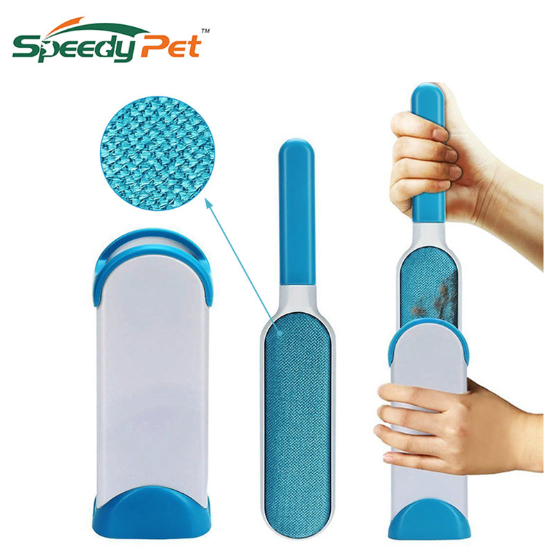 Pet Hair Remover Brush Fur And Lint Removal Brush With Self-cleaning Base Cleaning Slicker Brush For Dogs Cats Pet Supplies