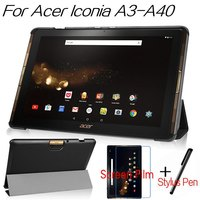 New Arrival Top Quality Flip PU Leather Cover For Acer Iconia Tab 10 A3 A40 10